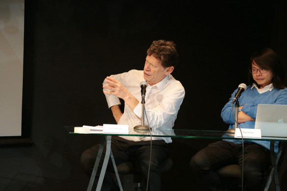 Prof. Scott Lash with Prof. Yuk Hui