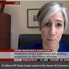 Daisy Cooper MP at PMQs