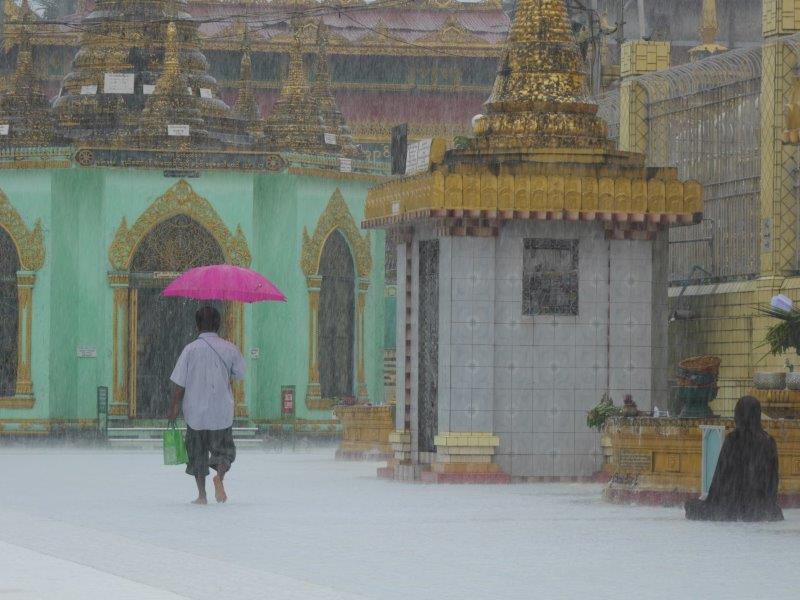 58. Mönch im Regen #2 (Myanmar)