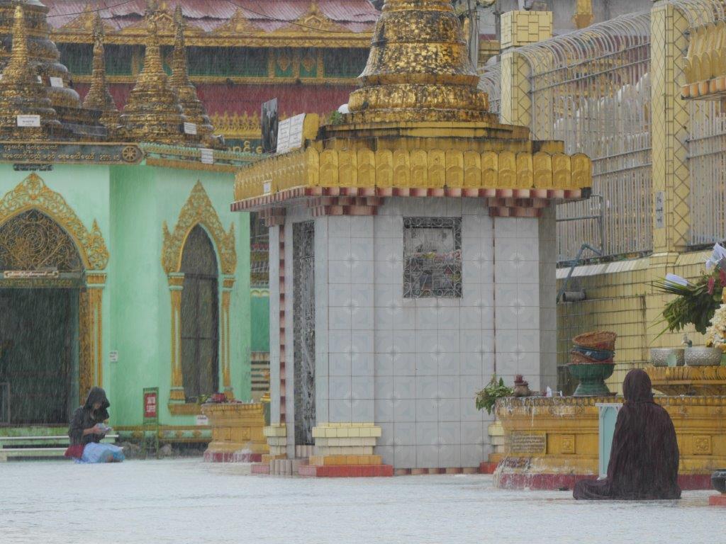 60. Mönch im Regen #4 (Myanmar)