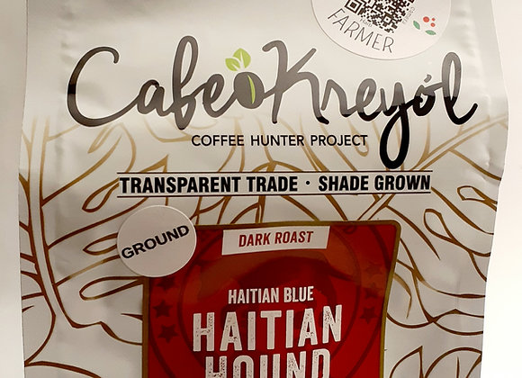 Grounded organic coffee from Haiti. A strong robust taste i