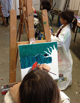 Cours de peinture enfants