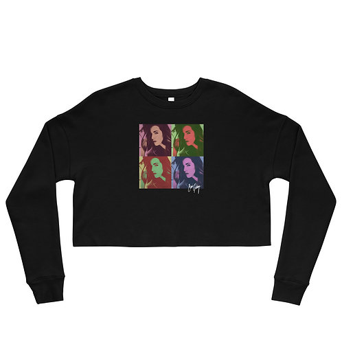 Caitlin Pop Color Crop Sweatshirt