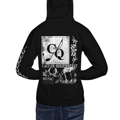 CQ Country Music Unisex Hoodie- Black