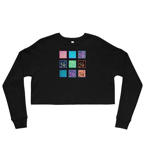 Color Crop Sweatshirt