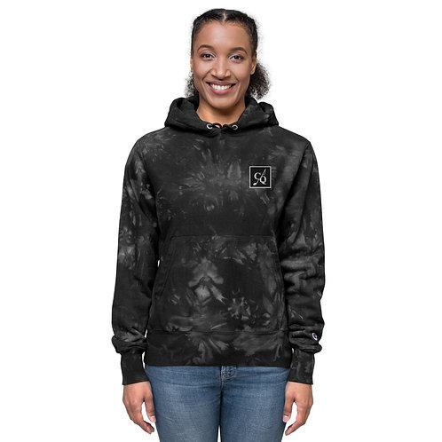 Black Unisex Champion tie-dye hoodie