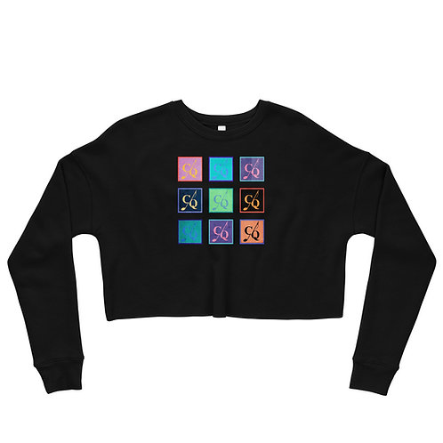 Color Crop Sweatshirt