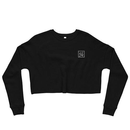 Crop CQ Embroidered Sweatshirt