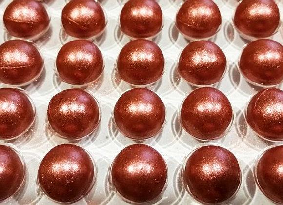 """Šokolādes """"Sārtās pērles"""" 15mm"""