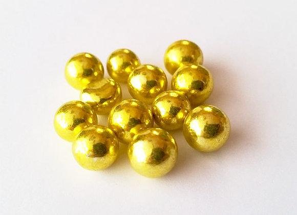 Spīdīgās pērlītes zelta 7 mm