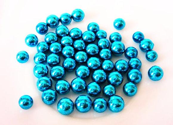 Spīdīgās pērlītes zilas 6mm