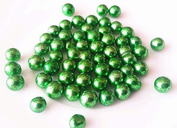 Spīdīgās pērlītes zaļas 6mm