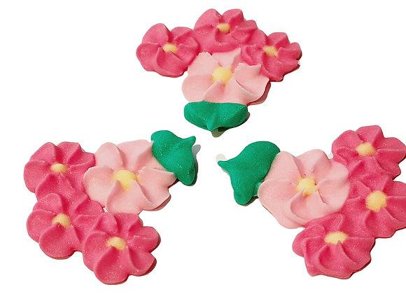 Sīkziediņi - četri vienā (sārti - rozā)