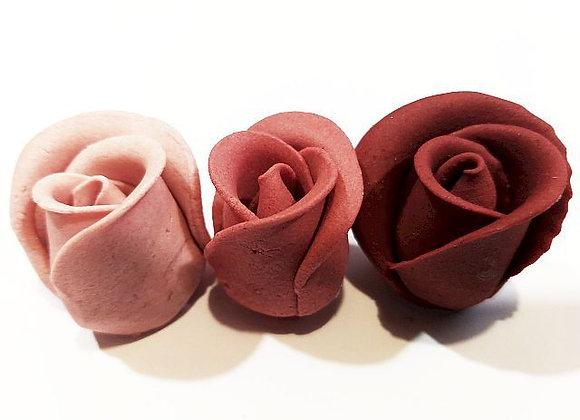 Lielās trīstoņu karmīnsarkanās rozes