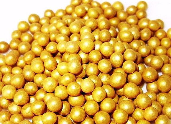 Zelta perlamutra pērles 5mm