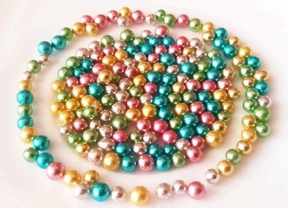 Spīdīgās pērlītes krāsainas 3,5mm