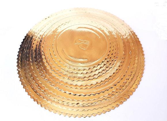 Apaļie kūku palikņi ar viļņoto malu
