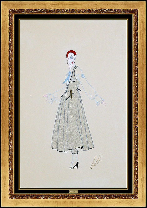 """Original Bendel Dress"" by Erte"