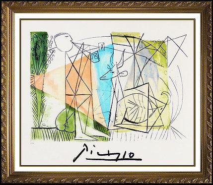 """""""Joueur de Flute et Gazelle"""" by Pablo Picasso"""