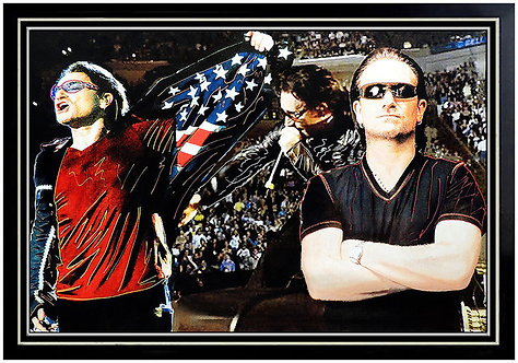 """Original Triple Bono U2"" by Steve Kaufman"