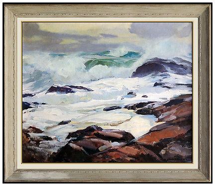 """Storm on Bass Rock"" by Emile A. Gruppe"