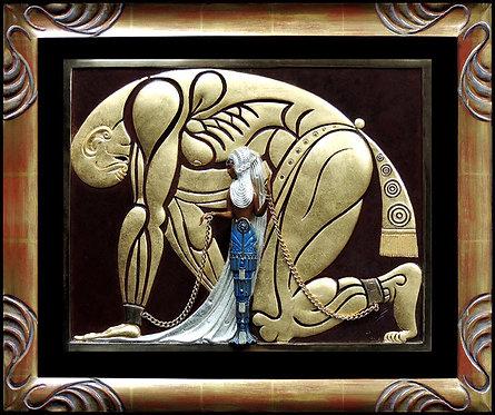 """""""Samson and Delilah"""" by Erte"""