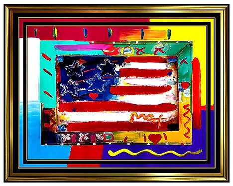 """Flag with Heart"" by Peter Max"
