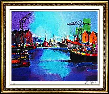 """Grand Port Bleu"" by Marcel Mouly"