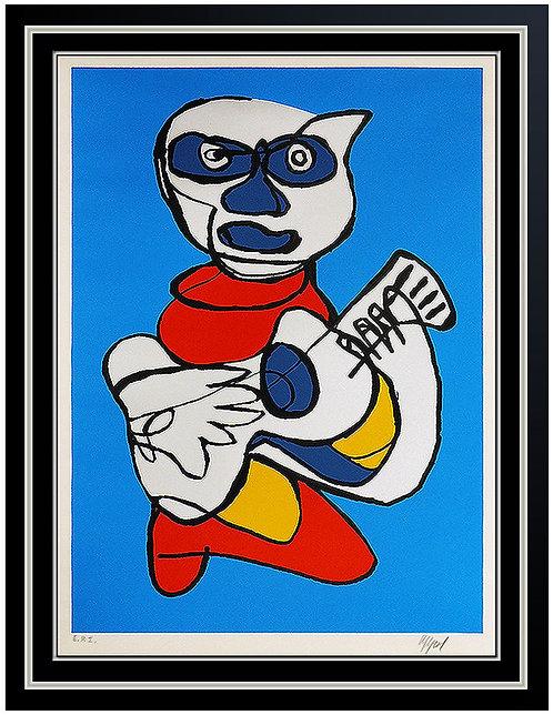 """""""Singing Hands (Blue)"""" by Karel Appel"""