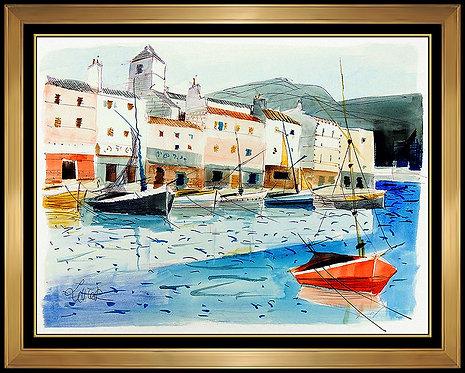 """Barques a la Quai"" by Charles Levier"