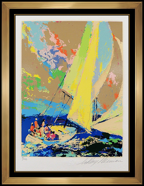 """Normandy Sailing"" by LeRoy Neiman"