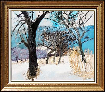 """""""Original Niege sur le Marais"""" by Guy Bardone"""