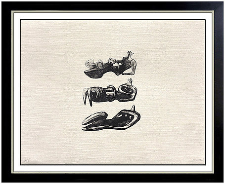 """""""Three Reclining Figures with Land Background"""" by Henry Moore"""