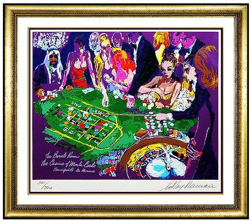 """Salle Privee - Monte Carlo"" by Leroy Neiman"