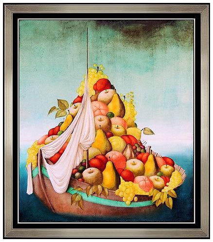 """Original Sailing Fruit Bowl"" by Hua Chen"