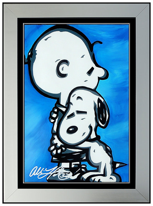"""Original Charlie Brown and Snoopy - Hugs"" by Allison Lefcort"