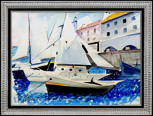 """""""At Port"""" by Charles Levier"""