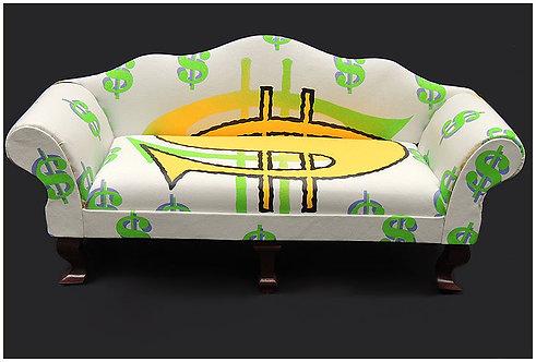 """Original Money In the Cushions"" by Steve Kaufman"