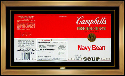 """Industrial Campbell's Navy Bean Soup Label"" by Andy Warhol"