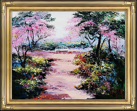"""Original Cherry Blossom Garden"" by Mark King"