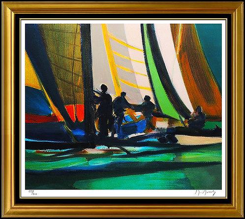 """Yachtmen A Quai"" by Marcel Mouly"