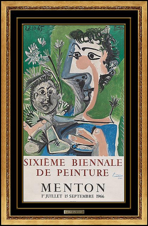 """""""Sixieme Biennale de Peinture, Menton"""" by Pablo Picasso"""