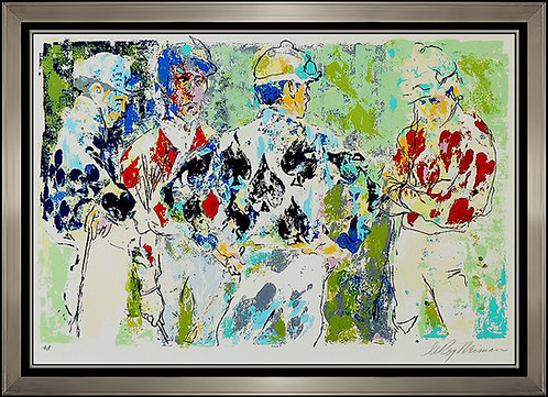 """Four Jockeys"" by Leroy Neiman"