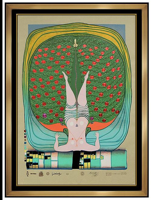 """""""Hommage a Schroder Sonnenstern"""" by Friedensreich Hundertwasser"""