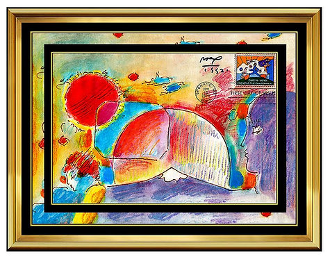 """Original Preserve the Environment, First Day of Issue"" by Peter Max"