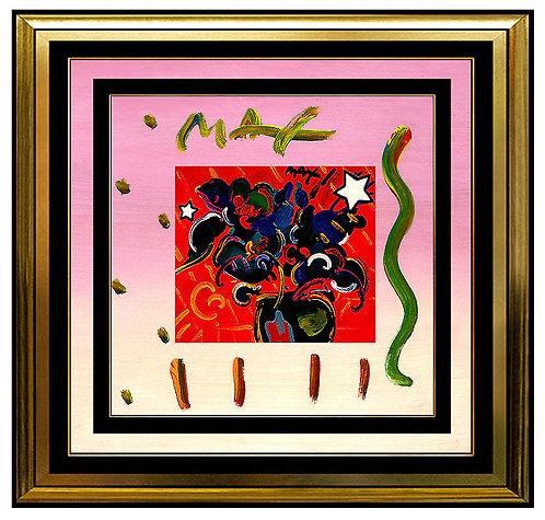 """ORIGINAL POP ART FLOWERS 1993"" by Peter Max"