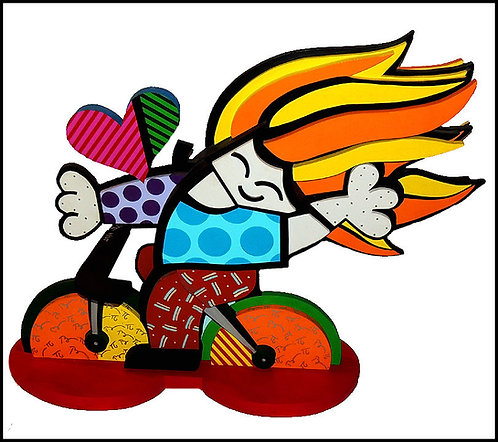 """""""Girl on Bicycle"""" by Romero Britto"""
