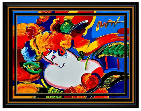 """""""Flower Blossom Lady"""" by Peter Max"""