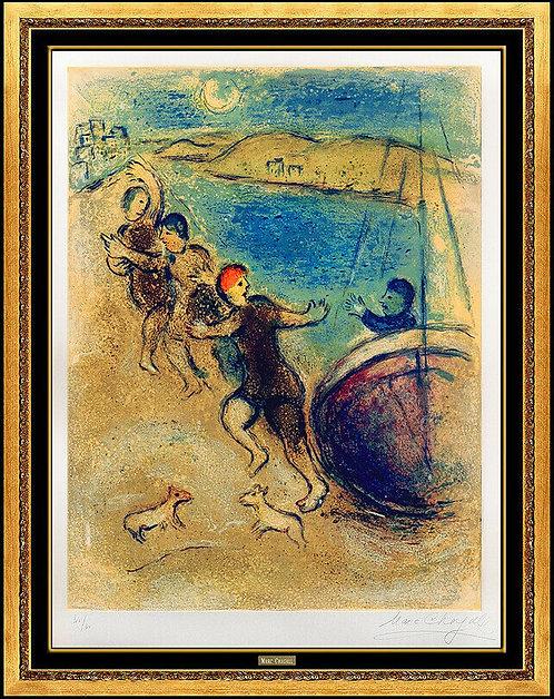 """Les Jeunes Gens de Methymne"" by Marc Chagall"