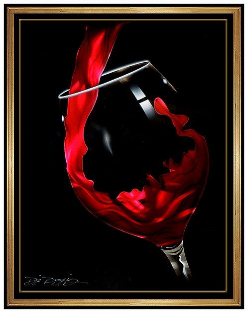 """Original Red Pour"" by Chris DeRubeis"